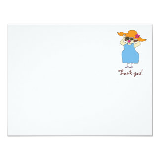 Pregnant & Fabulous Thank You Notecards 4.25x5.5 Paper Invitation Card