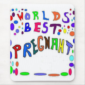 Pregnant FILL IN Your Text Mouse Pad