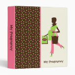 Pregnant Lady and Shopping Bags Binder