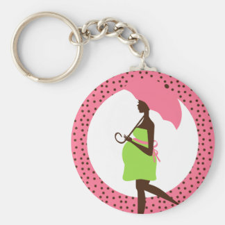 Pregnant Lady for Umbrella Favor Keychain