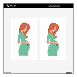 Pregnant Lady Kindle Fire Skins
