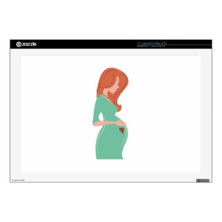 Pregnant Lady Laptop Skin