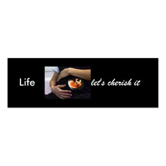 Pregnant - life let's cherish it Double-Sided mini business cards (Pack of 20)