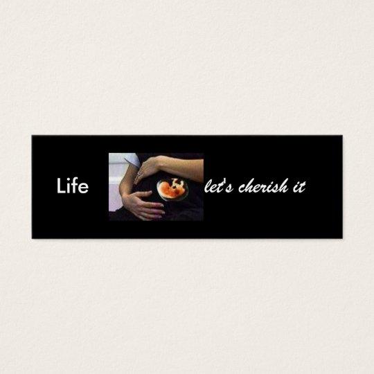 Pregnant - life let's cherish it mini business card