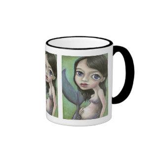 Pregnant mermaid ringer coffee mug