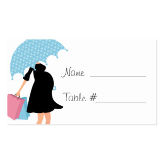 Pregnant Mom Baby Shower Business Card Template