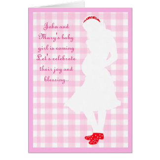 pregnant mom, baby shower card