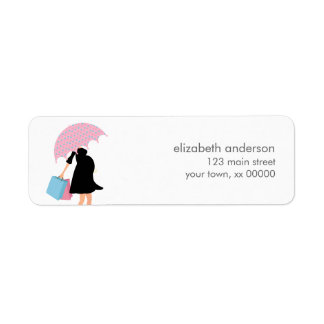 Pregnant Mom Baby Shower Label