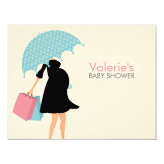 Pregnant Mom Baby Shower Mom Advice 4.25x5.5 Paper Invitation Card