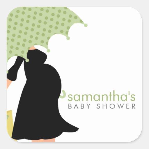 pregnant mom baby shower square stickers zazzle