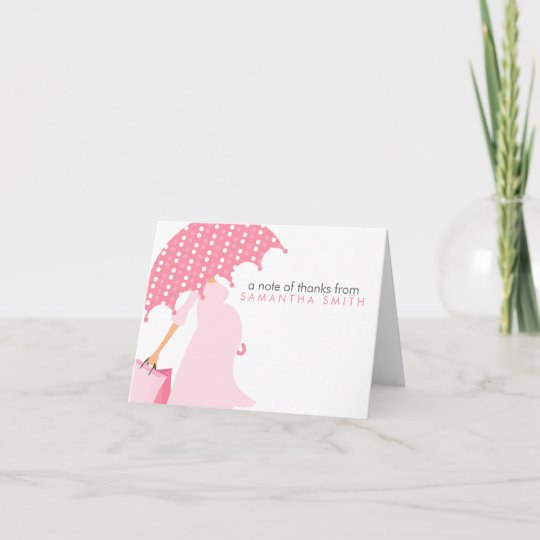 Pregnant Mom Baby Shower Thank You Notes Zazzle