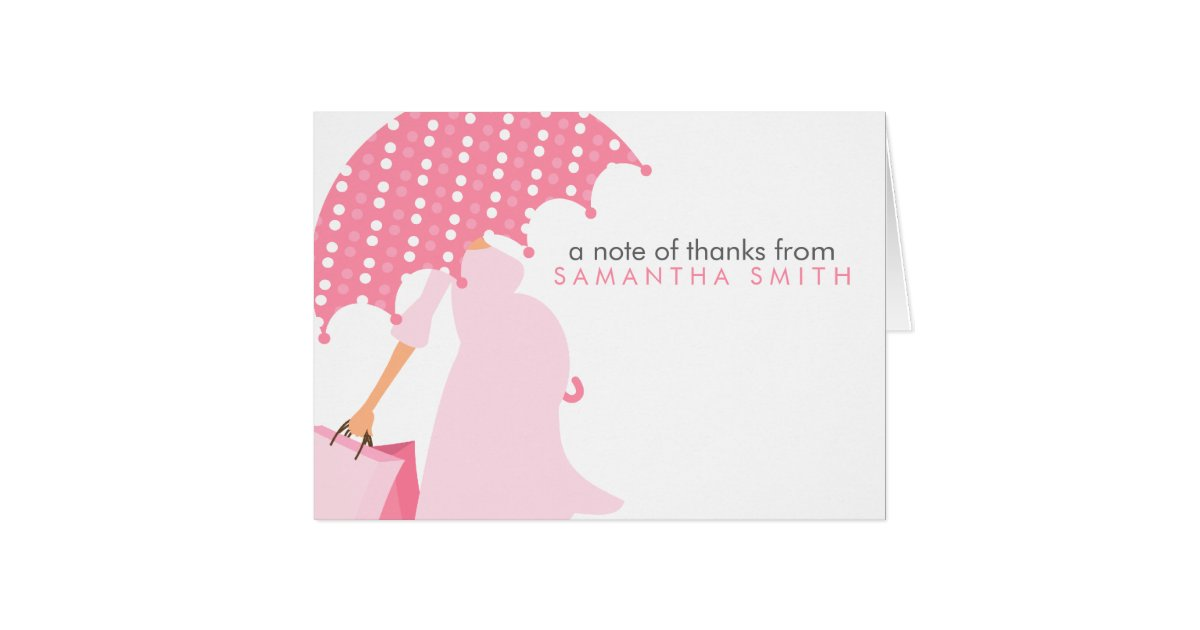 pregnant mom baby shower thank you notes zazzlecom