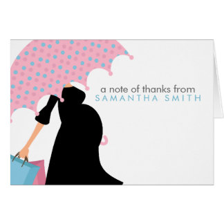 Pregnant Mom Baby Shower Thank You Notes Card