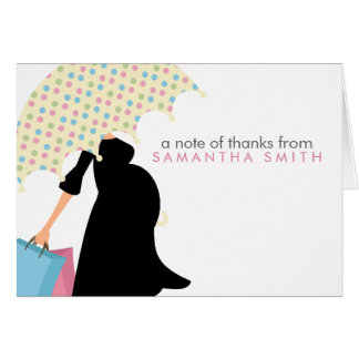 Pregnant Mom Baby Shower Thank You Notes Stationery Note Card