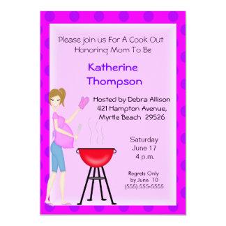 Pregnant Mom Cookout  Invitation