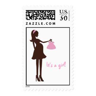 Pregnant Mom-to-Be Baby Girl/Shower Postage