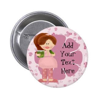 Pregnant Pickle Diva . Pinback Button