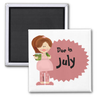 Pregnant Pickle Lady Due Date Magnet