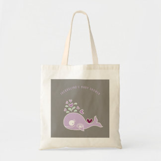 Pregnant Purple Mommy Whale Girl Baby Shower Bag
