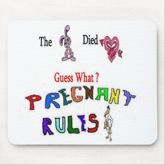 Pregnant Rules Guess Mouse Pad