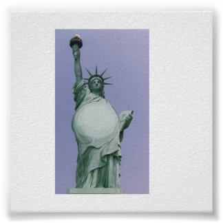 Pregnant Statue Of Liberty Poster
