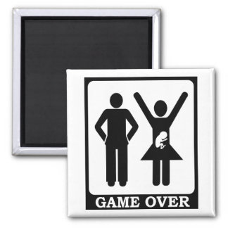 Pregnant Wife - Game Over 2 Inch Square Magnet