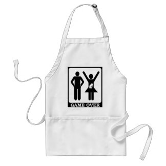 Pregnant Wife - Game Over Adult Apron