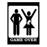 Pregnant Wife - Game Over Postcard