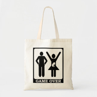 Pregnant Wife Game Over Tote Bag