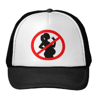 Pregnant Woman Alcohol Symbol Trucker Hat