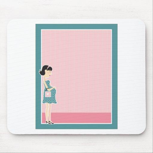 Pregnant Woman Border Mouse Pad