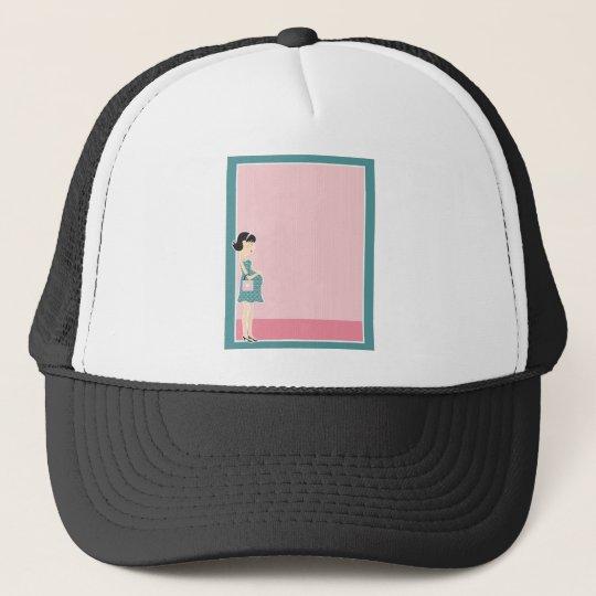 Pregnant Woman Border Trucker Hat