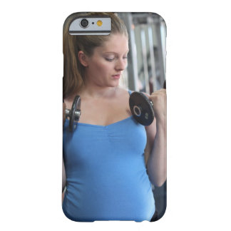 pregnant woman exercising at health club barely there iPhone 6 case