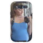 pregnant woman exercising at health club galaxy s3 covers