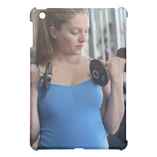 pregnant woman exercising at health club iPad mini case