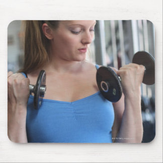 pregnant woman exercising at health club mouse pad