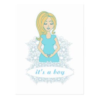 pregnant woman Postcard