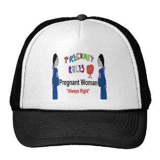 Pregnant Woman Right Trucker Hat