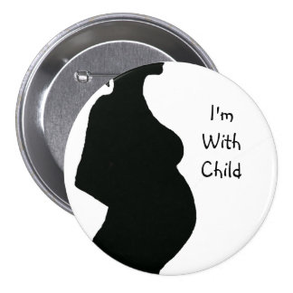 Pregnant Woman Silhouette - With Chld Button