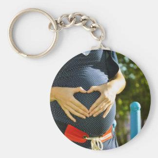 Pregnant woman tummy keychain