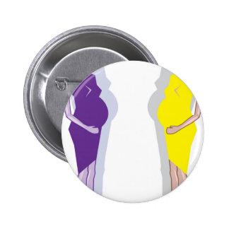 Pregnant Woman vector Button
