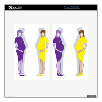 Pregnant Woman vector Kindle Fire Decal