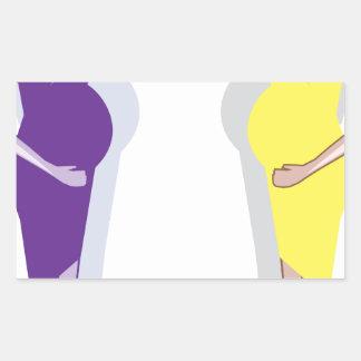 Pregnant Woman vector Rectangular Sticker