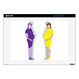 """Pregnant Woman vector Skin For 15"""" Laptop"""
