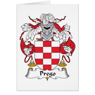Prego Family Crest Card