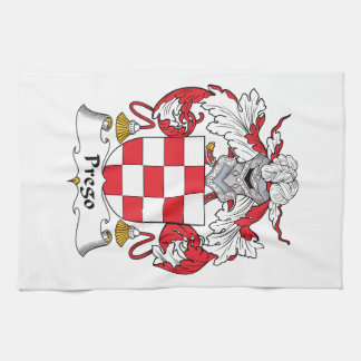 Prego Family Crest Hand Towels
