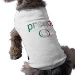 Prego! Italy Flag Colors Doggie Tee