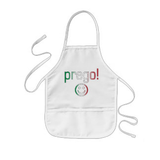 Prego! Italy Flag Colors Kids' Apron