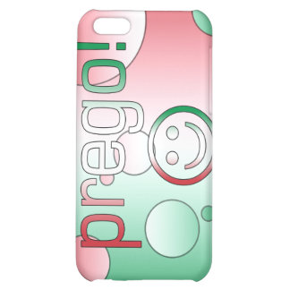 Prego! Italy Flag Colors Pop Art Case For iPhone 5C