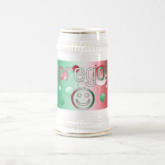 Prego! Italy Flag Colors Pop Art Coffee Mug